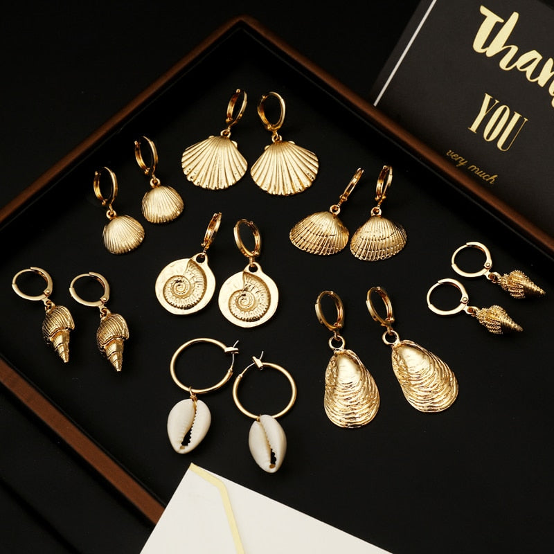 Bohemian Style Gold Earings Jewelry For Teachers