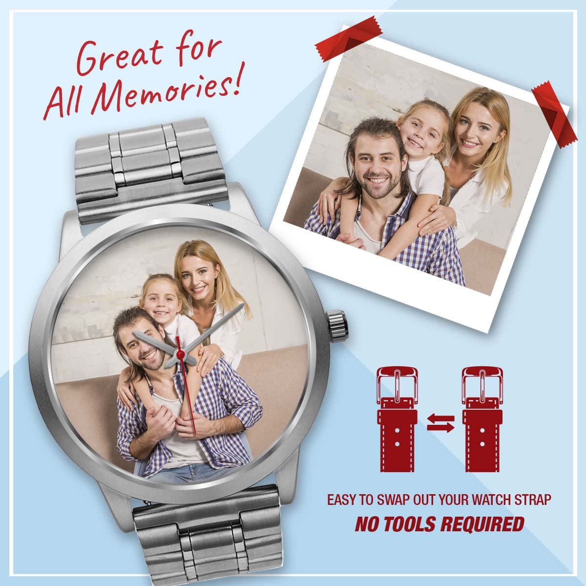 PERSONALIZED watch - upload your memories photos
