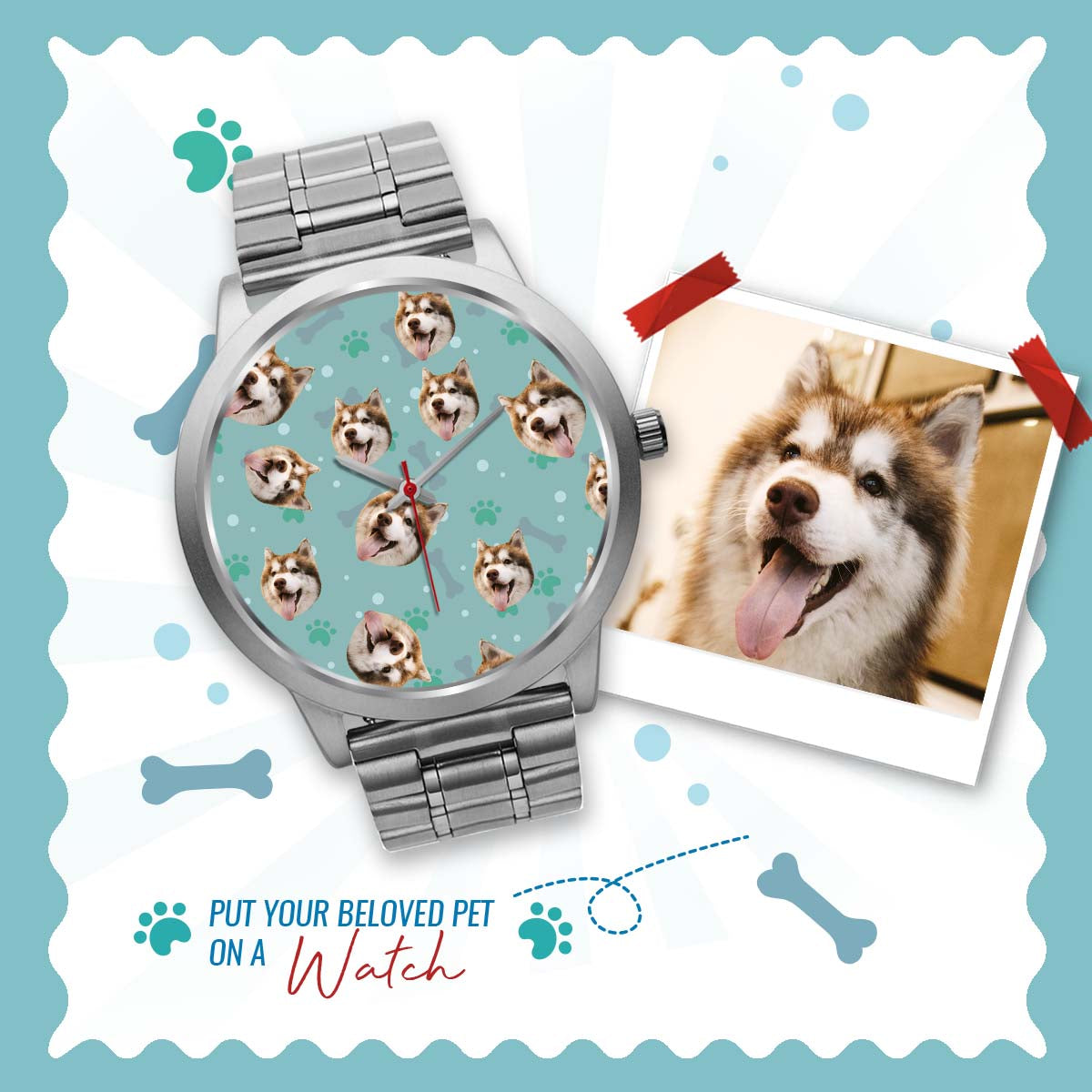 PERSONALIZED watch - upload your PET photos