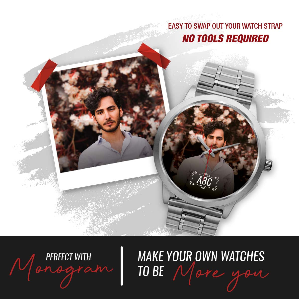 PERSONALIZED watch- your photo watch
