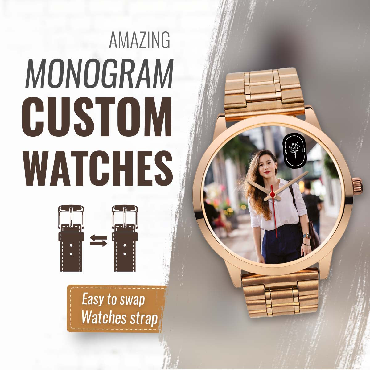 PERSONALIZED watch - MONOGRAM CUSTOM WATCHES