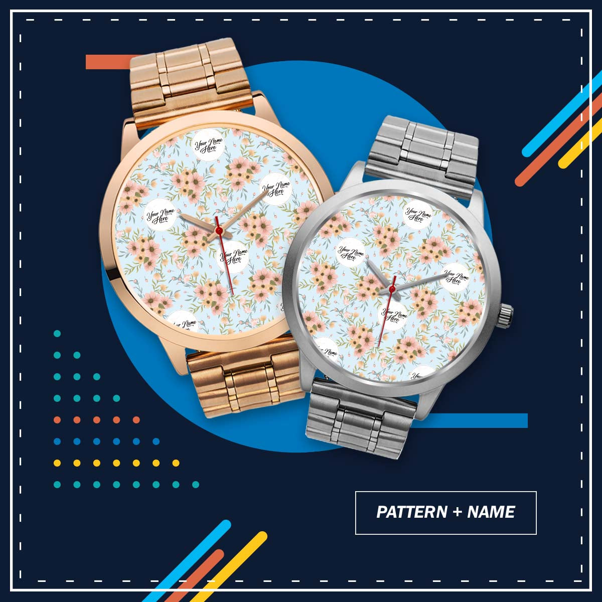 PERSONALIZED watch - your pattern & name