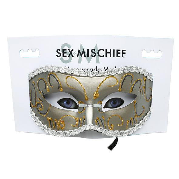 S&M Grey Mascarade Masque - Erotes.fr