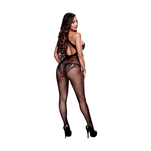 Baci Bodystocking Crotchless En Dentelle Florale
