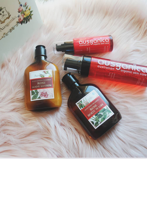 Rose Organic Body Lotion Body Wash and Organic Skincare