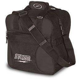 Storm Solo Single Tote Black, 1 Ball Tote Bowling Bag