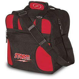 Storm Solo Single Tote Red & Black, 1 Ball Tote Bowling Bag