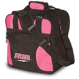 Storm Solo Tote Black & Pink Bowling Bag, 1 Ball Tote Bowling Bag