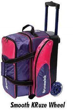 Brunswick Flash C Double Purple Pink, 2 Ball Roller Bags