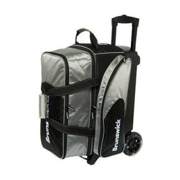 2 Ball Roller Bags - Brunswick Flash C Double Roller Silver
