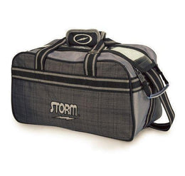 Storm Double Tote Bowling Bag Plaid Grey, 2 Ball Tote Bowling Bags