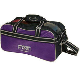 Storm Double Tote Bowling Bag Purple Black, 2 Ball Tote Bowling Bags