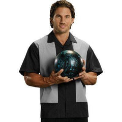 Black Platinum Panel Bowling Shirt
