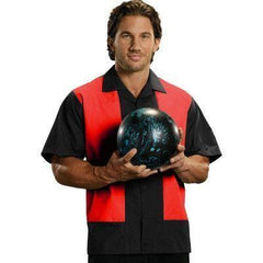 Black Red Panel Bowling Shirt