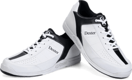 Dexter Ricky 3 White Black, Mens Bowling Shoes