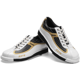 Dexter SST 8 White Black Gold Bowling Shoe, Mens Bowling Shoes