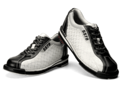 Dexter SST 8 White Black Silver Ladies Bowling Shoes, Womens Bowling Shoes