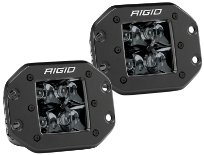 Rigid Industries D2 - Midnight Edition Flush Mount Spot Lights