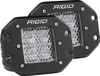 Rigid Industries Dually - Flush Mount - 60 Deg. Lens - Set of 2