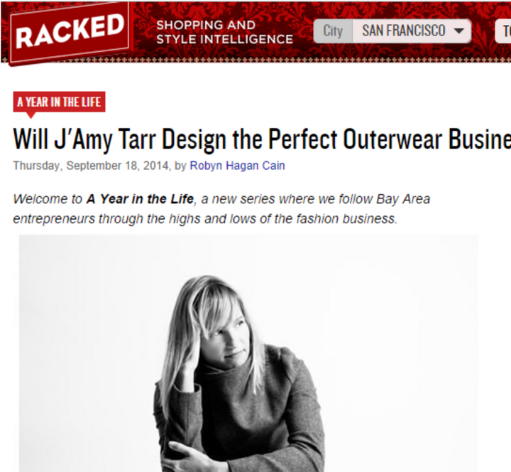 Will J'Amy Tarr Design the Perfect Outerwear Business?