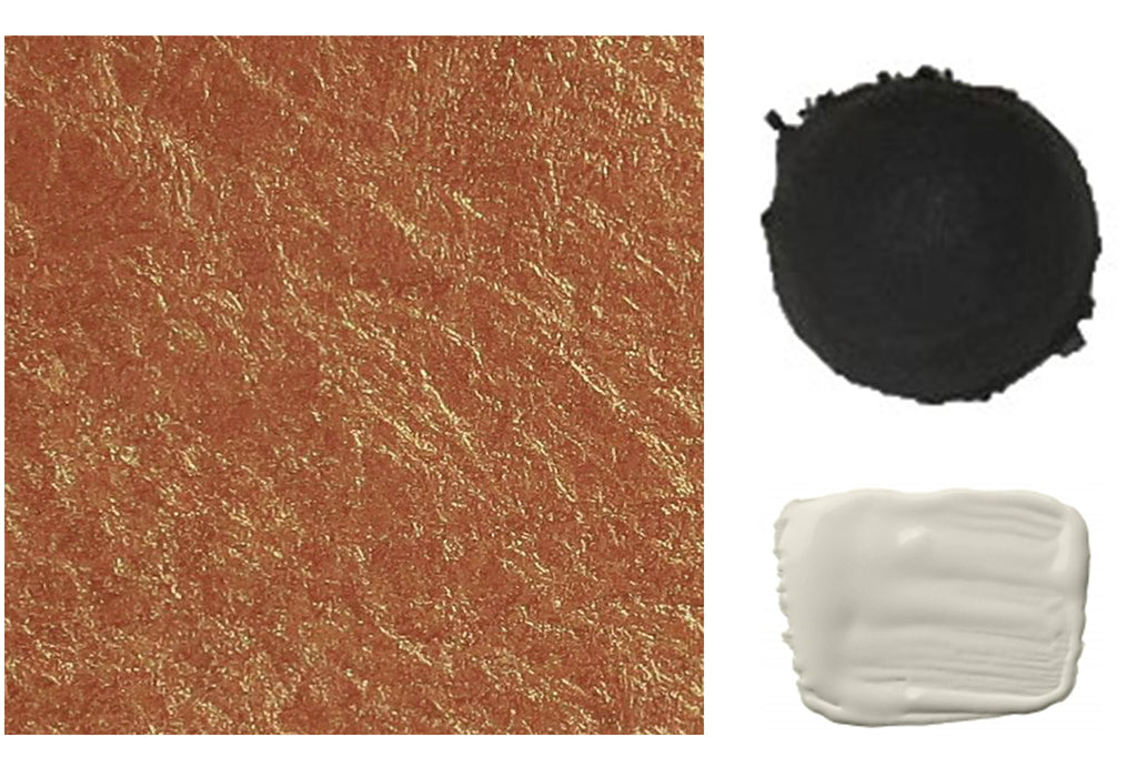 Color Swatches Copper Black and Ivory