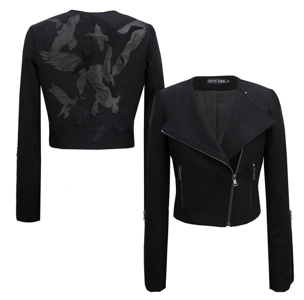 Limited Edition 'Take Flight' Black Moto Jacket