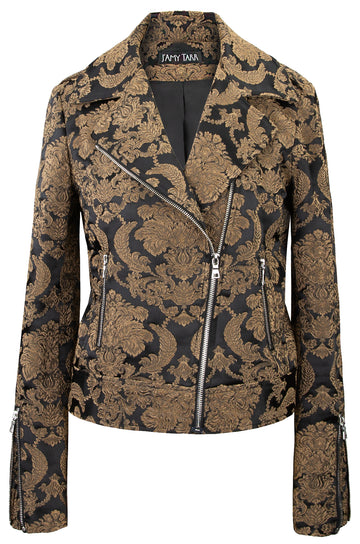 Imperial Brocade Biker Jacket