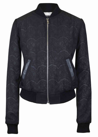 The Jet Black Lace Bomber
