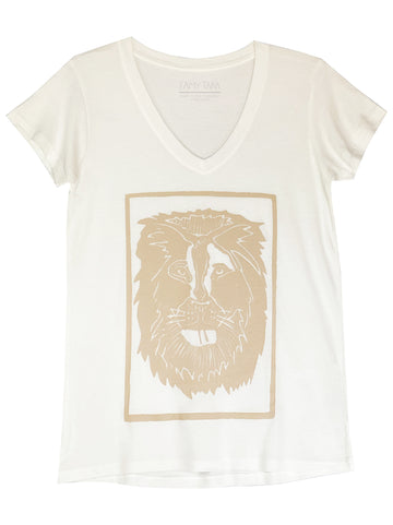 Limited Edition Block Printed Lion T-Shirt