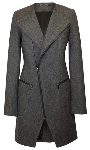 Tweed Yarndye Moto Coat