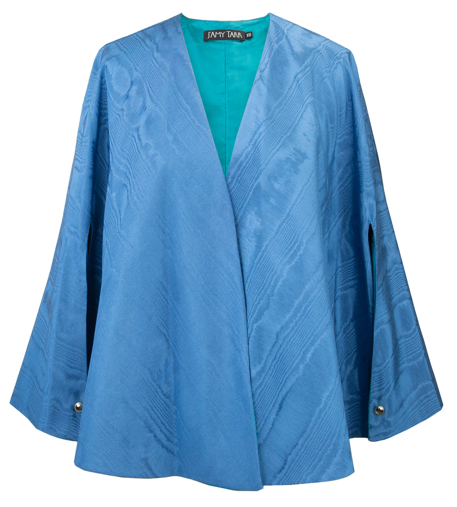 Capelet in Peacock Moire - One Size