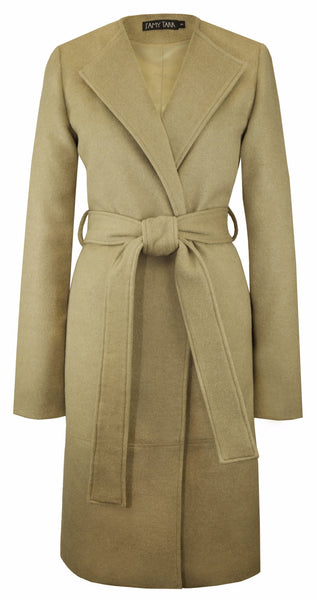 The Solid Blanket Coat in Camel