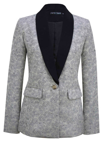 Structured Blazer in Concrete Floral