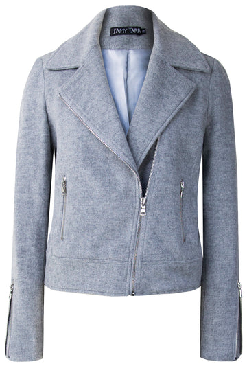 Granite Biker Jacket - Soft Japanese Wool
