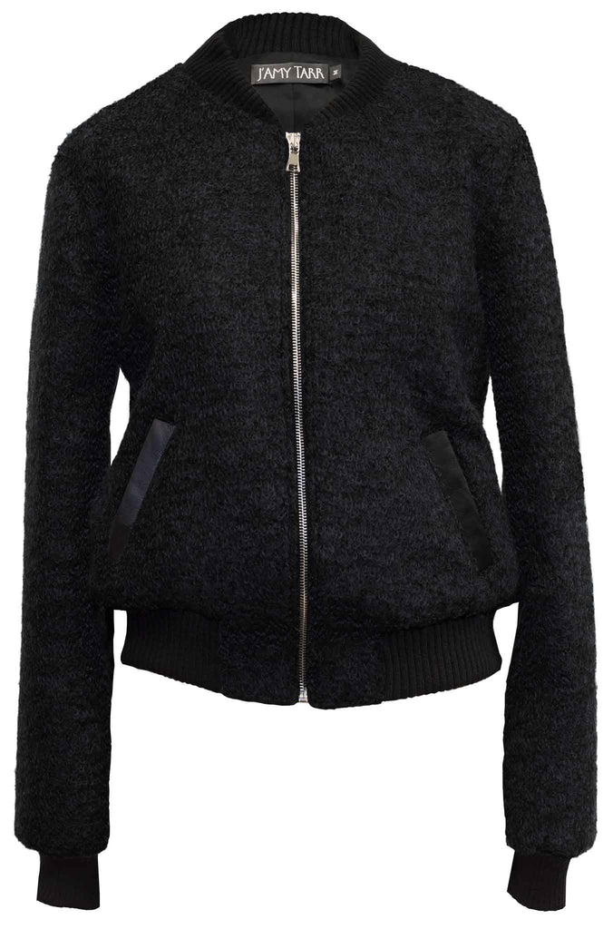 The Mohair Bomber Jacket - Jet Black