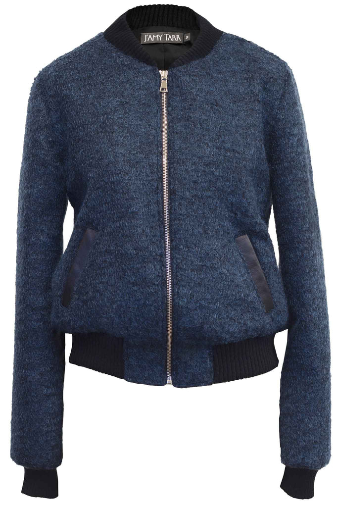The Mohair Bomber Jacket - Sapphire Blue
