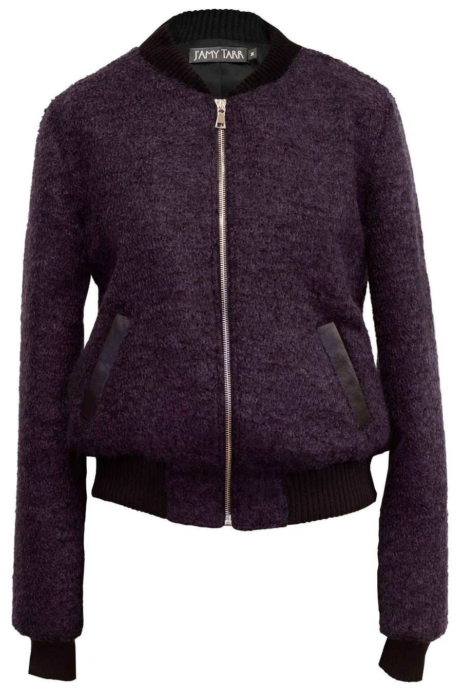 The Mohair Bomber Jacket - Deep Purple