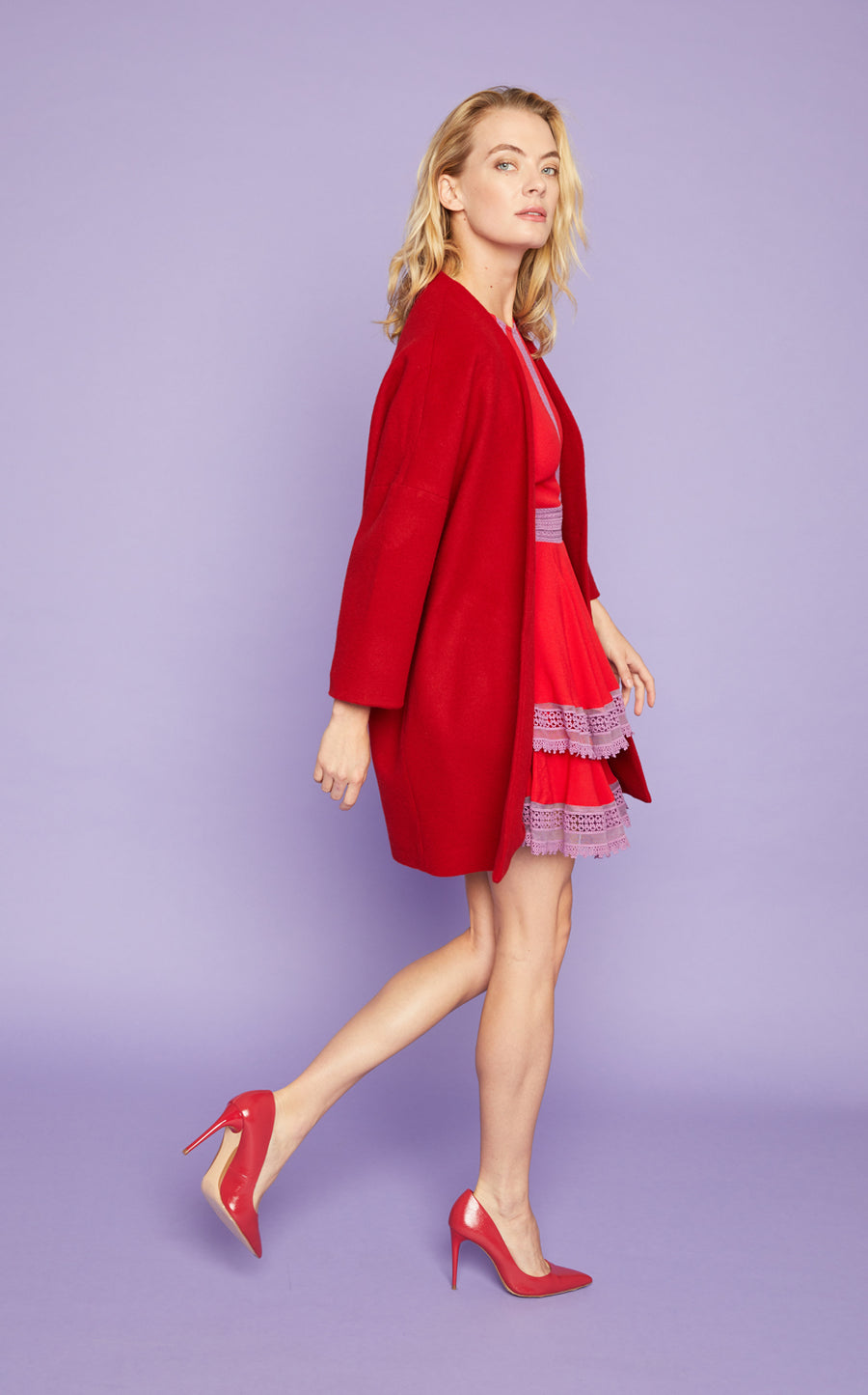 Kimono GT in Lipstick Red - Only Size Medium Left