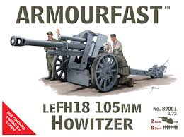 1/72 scale Military Vehicles (20mm) LEFH 18 Howitzer 105mm