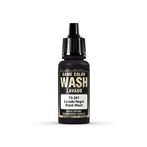 Washes/Inks Vallejo Game wash black 17ml