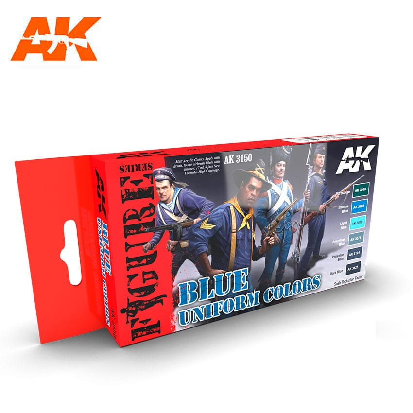 AK Interactive Figure Series Blue Uniform
