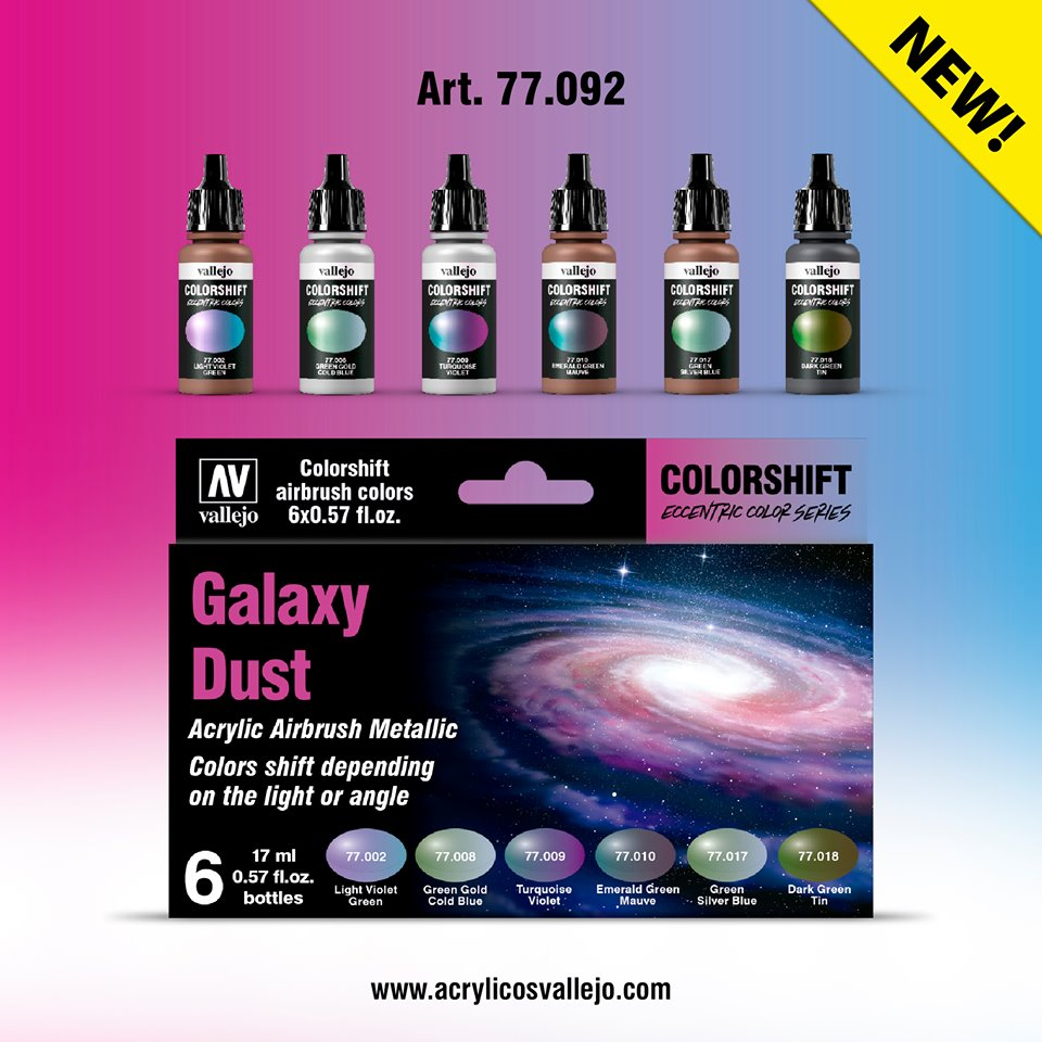 Vallejo color shifters set Galaxy Dust