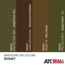 Load image into Gallery viewer, AK Real Colours WW2 Soviet AFV colours