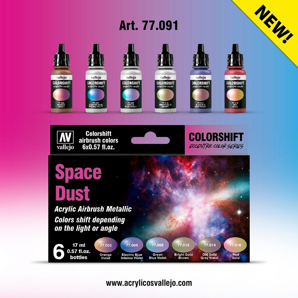 Vallejo color shifters set space Dust