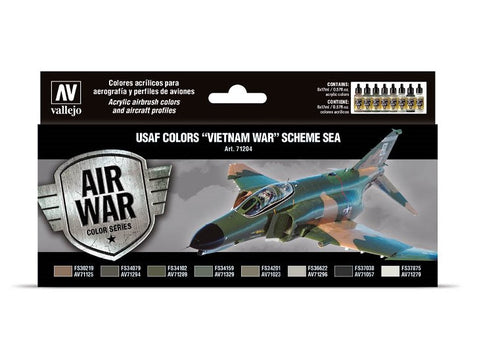 Added Vallejo Air war color Series USAF Colors Vietnam War Scheme Sea