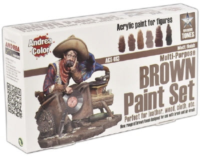 Andrea Color Brown paint Set