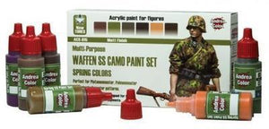 Andrea Color Waffen SS Camo Paint Set Spring Colors