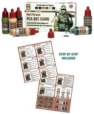 Andrea Color Pea Dot Camo Paint Set