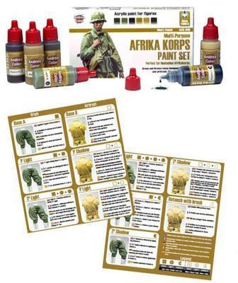 Andrea Color Afrika Korps paint Set