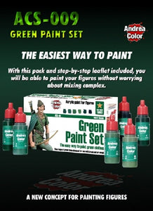 Andrea Color green paint Set